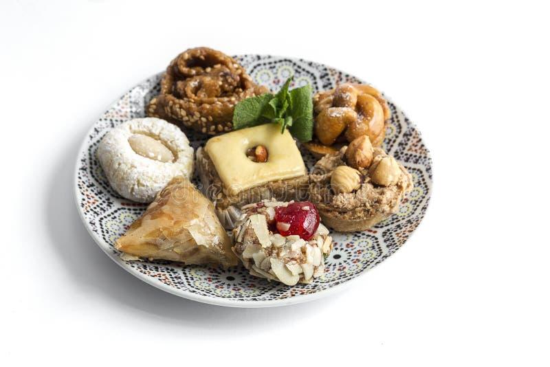 典型的摩洛哥甜点 自创 免版税图库摄影