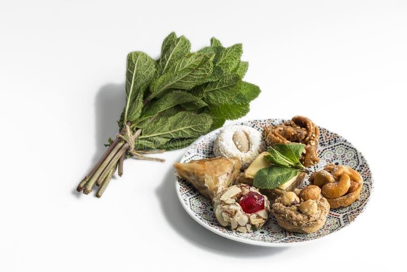 典型的摩洛哥甜点 自创 图库摄影