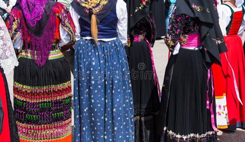 典型的撒丁岛服装 免版税库存照片