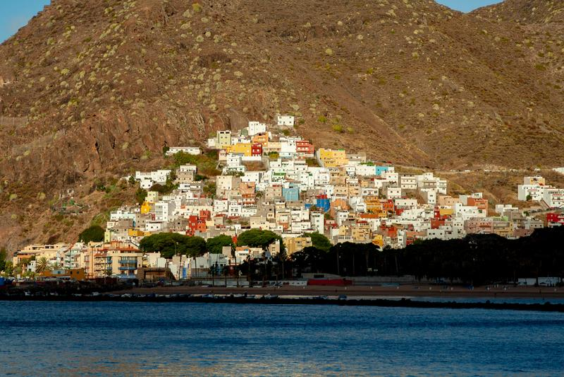 典型的村庄在加那利群岛 免版税库存照片