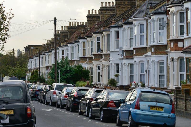 典型的独立式住宅,伦敦 免版税图库摄影