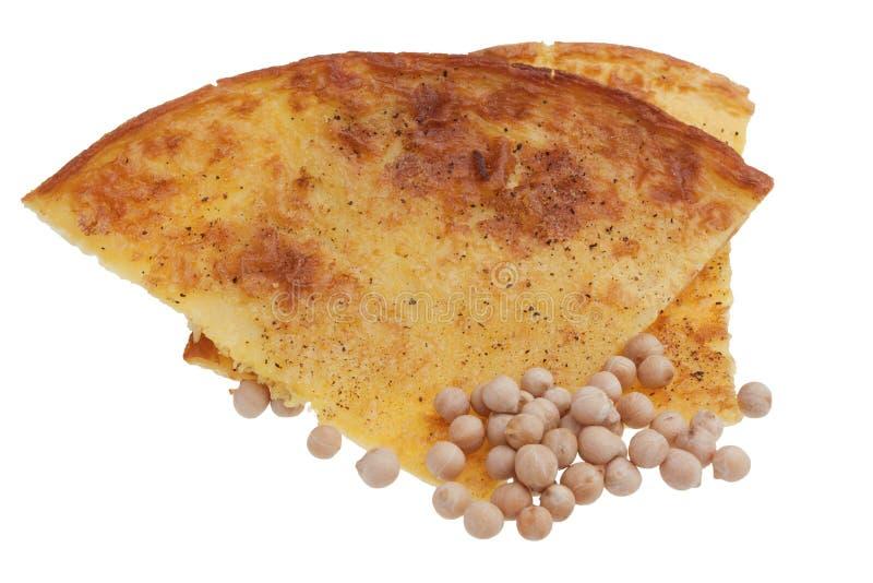 典型的盐味的蛋糕做用鸡豆面粉 库存图片