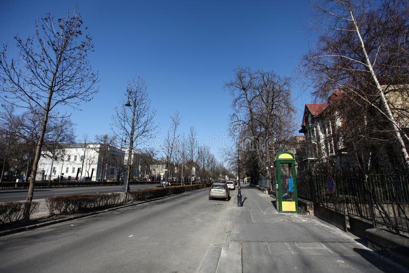 典型的街道在布达佩斯 库存照片