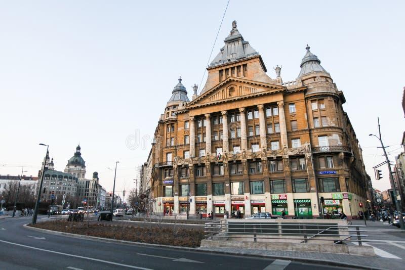典型的街道在布达佩斯 免版税库存图片