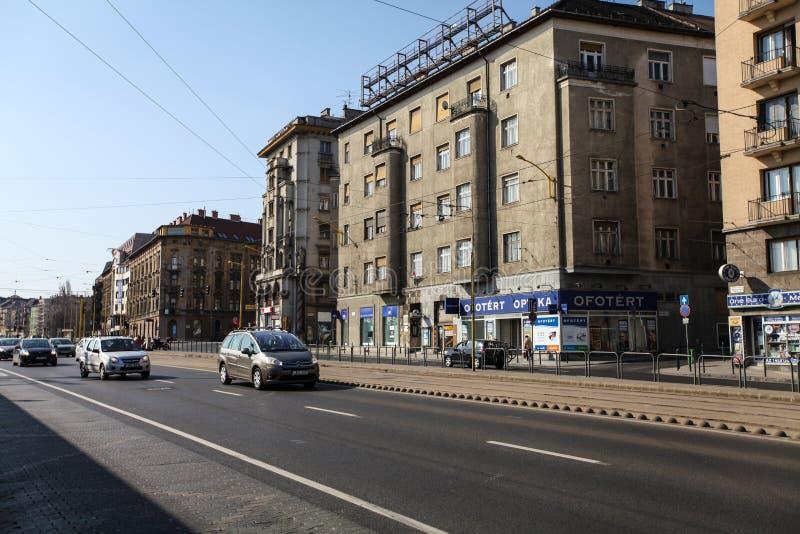 典型的街道在布达佩斯 免版税库存照片