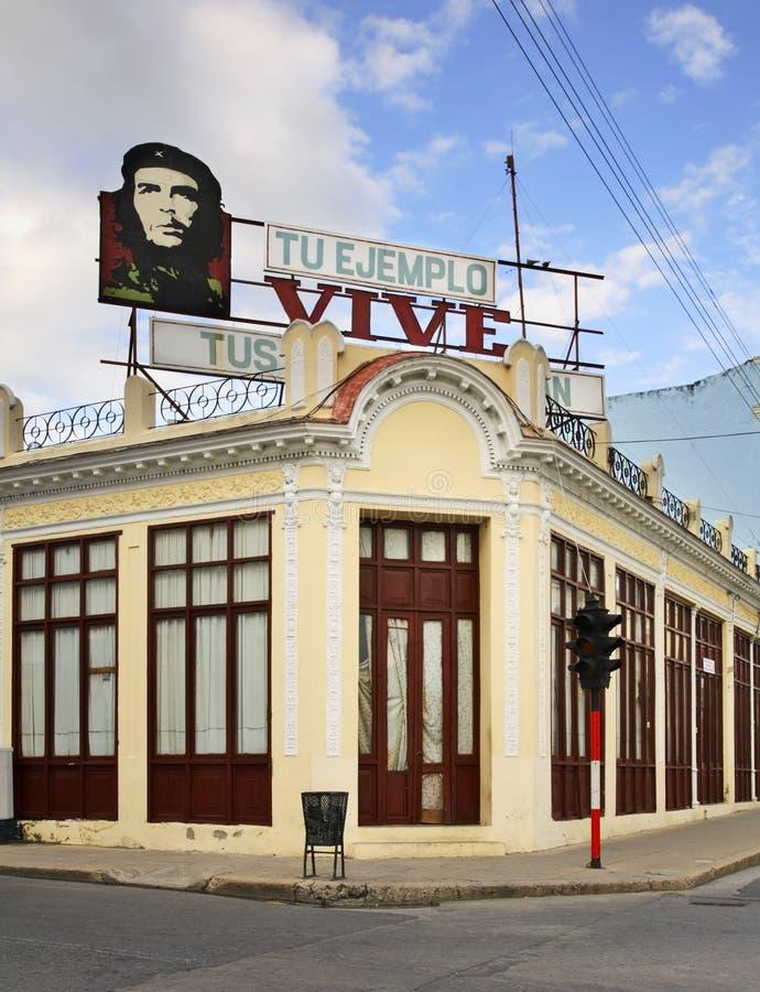 典型的街道在西恩富戈斯 古巴 免版税库存照片