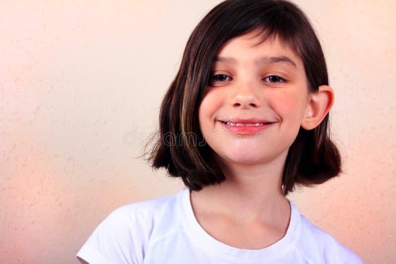典型的青春期前的女孩 库存照片