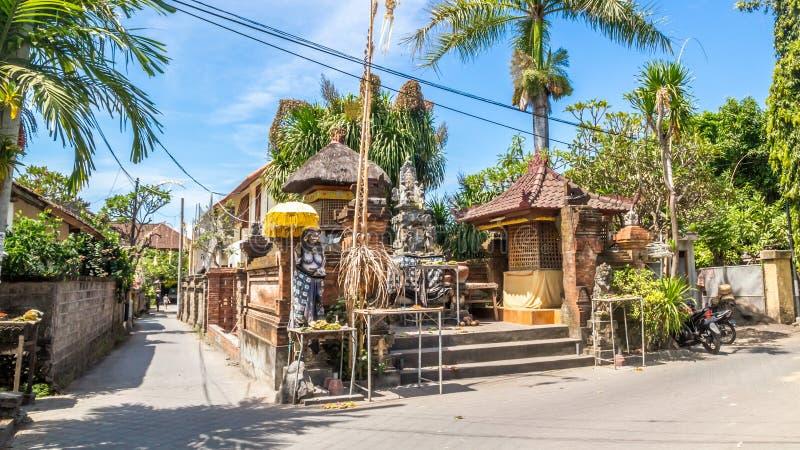 典型的巴厘语建筑学, sanur的房子 免版税库存图片