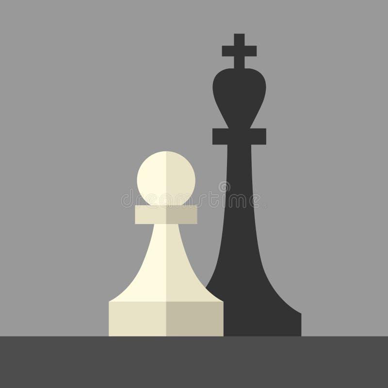 典当铸件国王阴影 向量例证