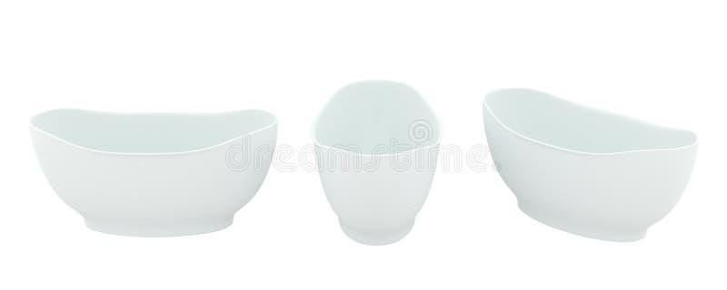 经典形式白色浴 库存例证
