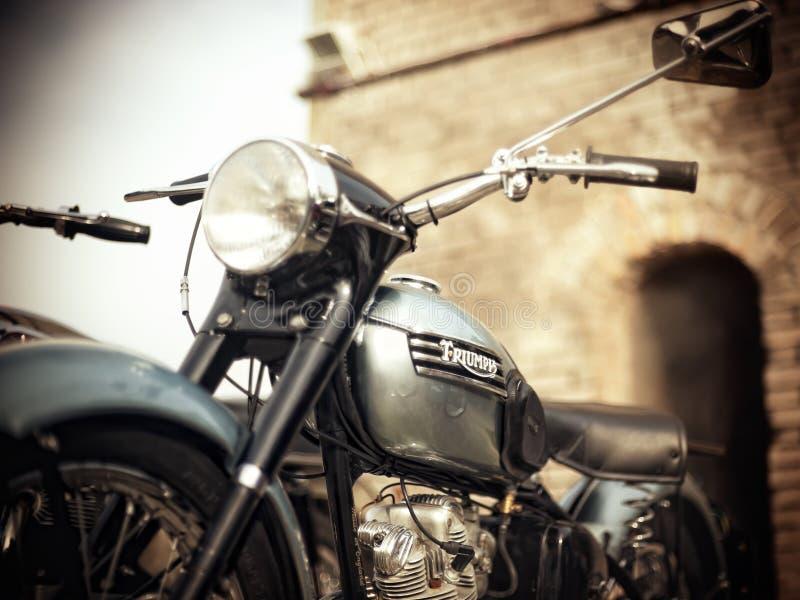 经典摩托车 库存图片