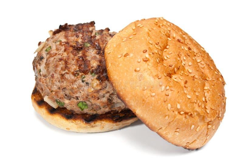 经典汉堡 库存图片