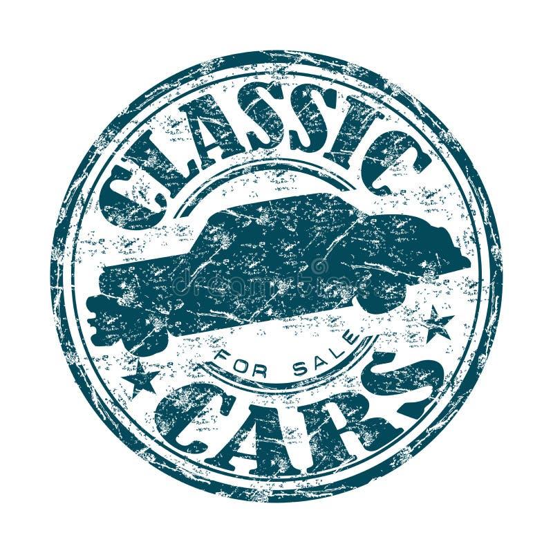 经典汽车待售不加考虑表赞同的人 向量例证
