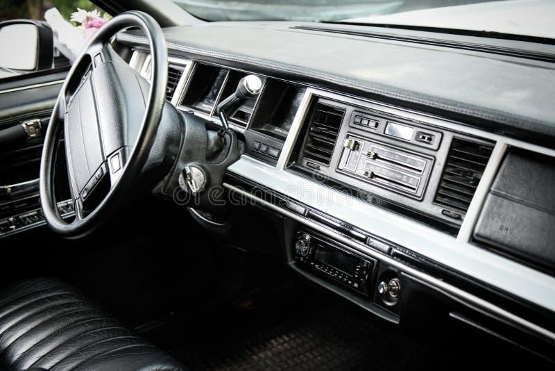 经典汽车仪表板 库存图片