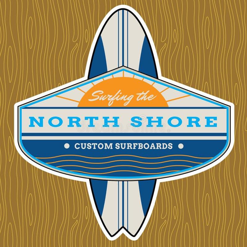 经典海浪商标设计 向量例证
