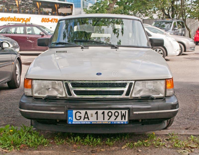 经典瑞典汽车绅宝900 库存照片
