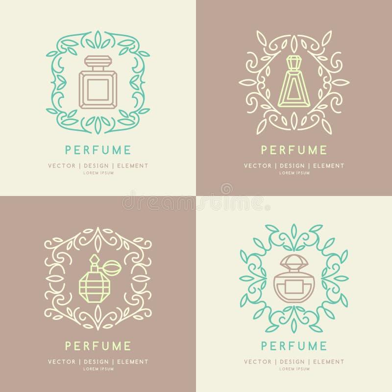 经典瓶香水 向量例证