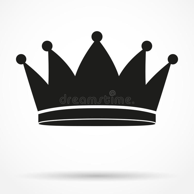 经典皇家国王的剪影简单的标志 皇族释放例证
