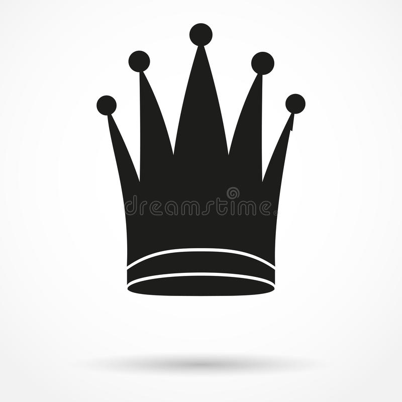 经典皇家女王/王后的剪影简单的标志 库存例证