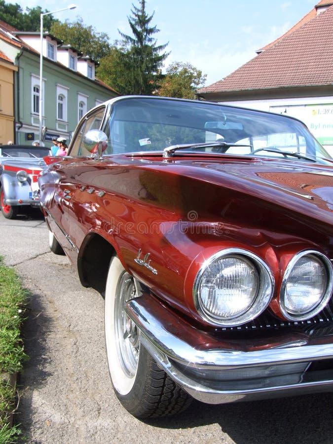 经典美国汽车聚光灯 库存照片
