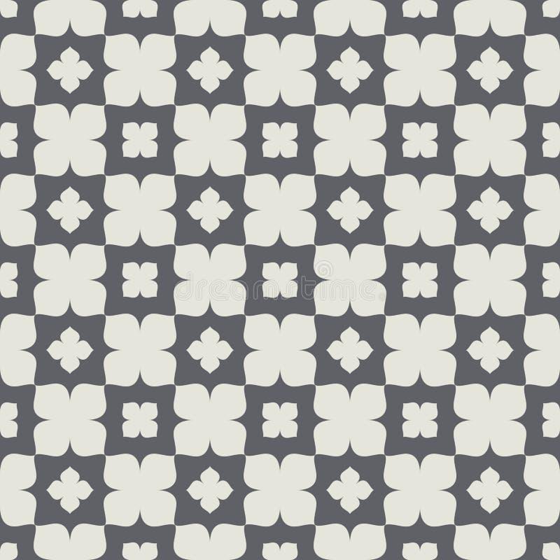 经典装饰几何抽象无缝的样式 向量例证