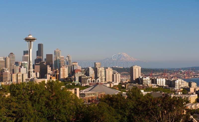 经典西雅图地平线 免版税库存照片