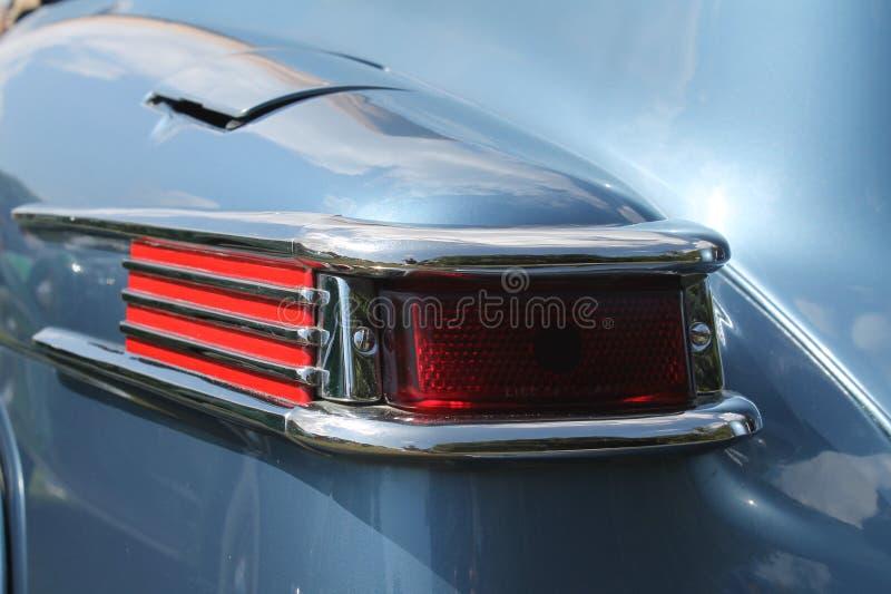 经典豪华美国汽车后方细节 免版税库存图片