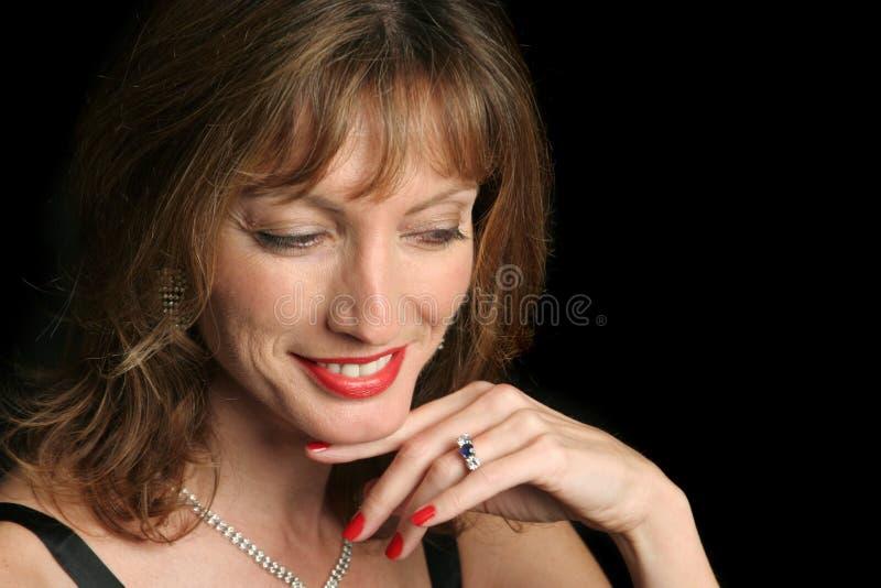 典雅发笑的秀丽 免版税图库摄影