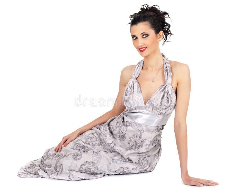 典雅深色的礼服 免版税库存图片