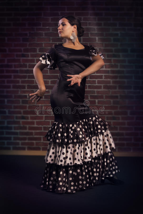 典雅的佛拉明柯舞曲舞蹈家 免版税库存照片