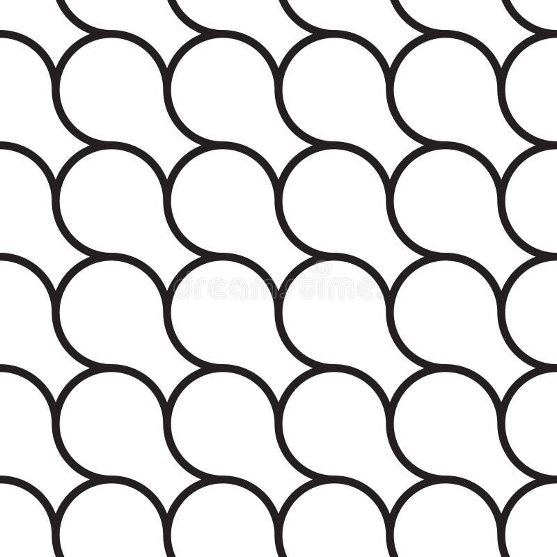 典雅的几何无缝的样式 库存例证
