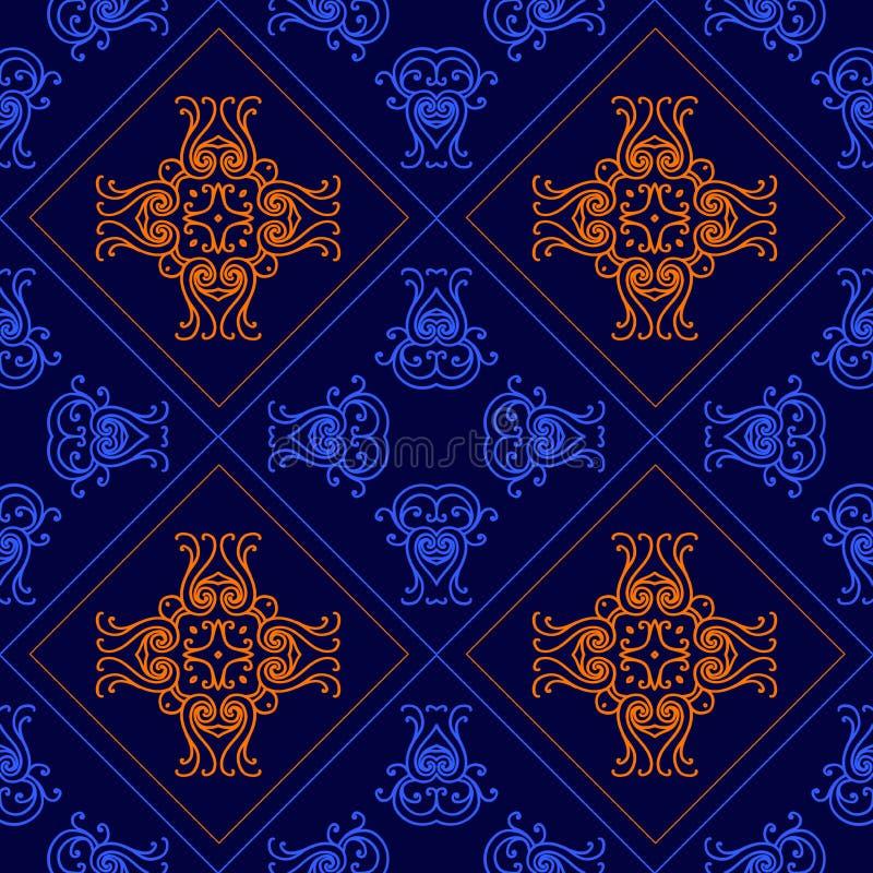 典雅的几何背景由花卉装饰样式制成 向量 向量例证