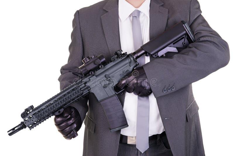 典雅的匪徒职业杀手刺客 图库摄影