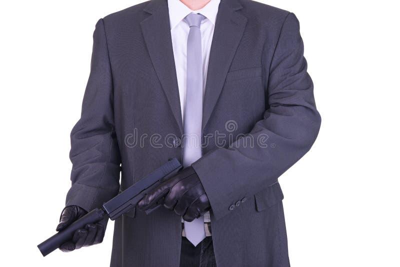 典雅的匪徒职业杀手刺客 库存照片