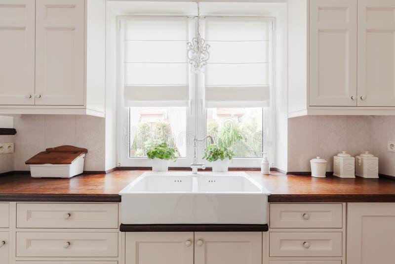 典雅的厨房家具 库存照片