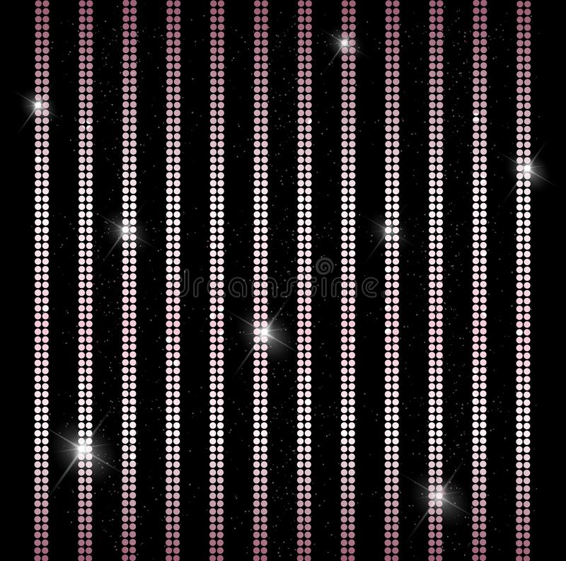 典雅的发光的垂直线,条纹背景魅力帷幕 皇族释放例证
