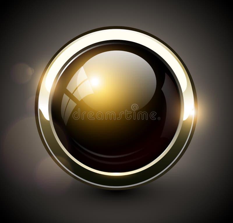 典雅的发光的按钮 向量例证