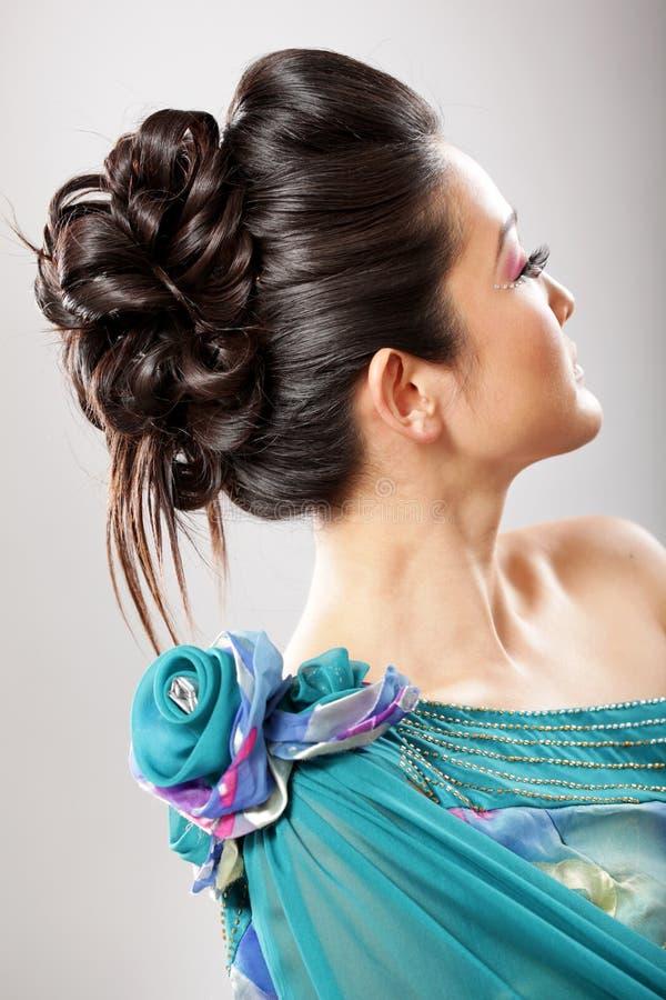 典雅的发型 图库摄影