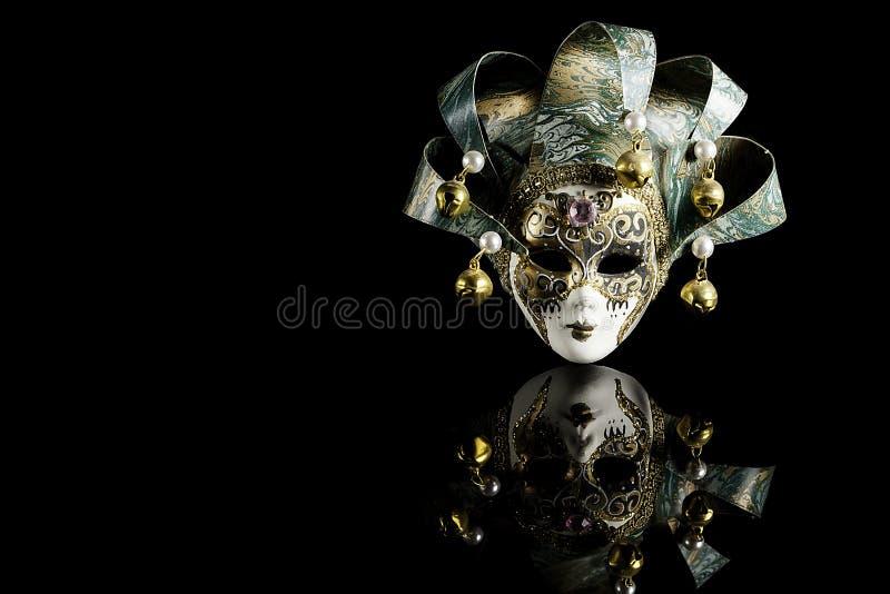 典雅的威尼斯式狂欢节面具 免版税库存图片