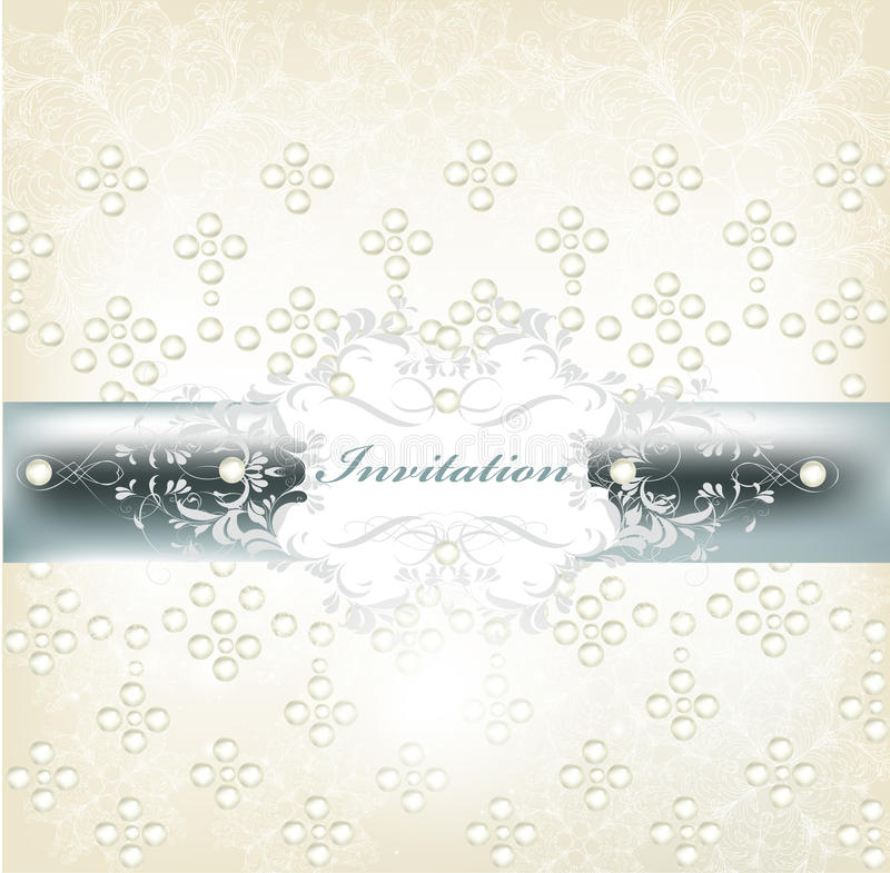 典雅的婚礼邀请看板卡 向量例证