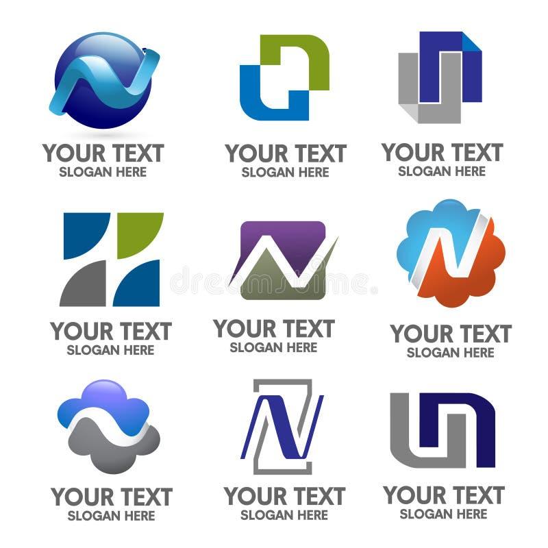 典雅的字母N商标概念 库存例证