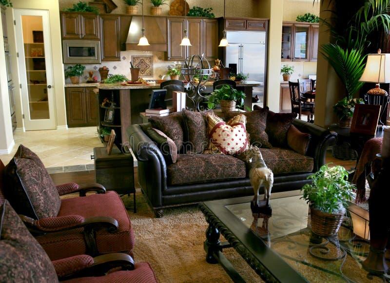 典雅的客厅 免版税库存照片