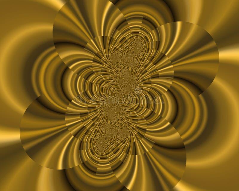 典雅的幻想金子分数维纹理,抽象背景 皇族释放例证