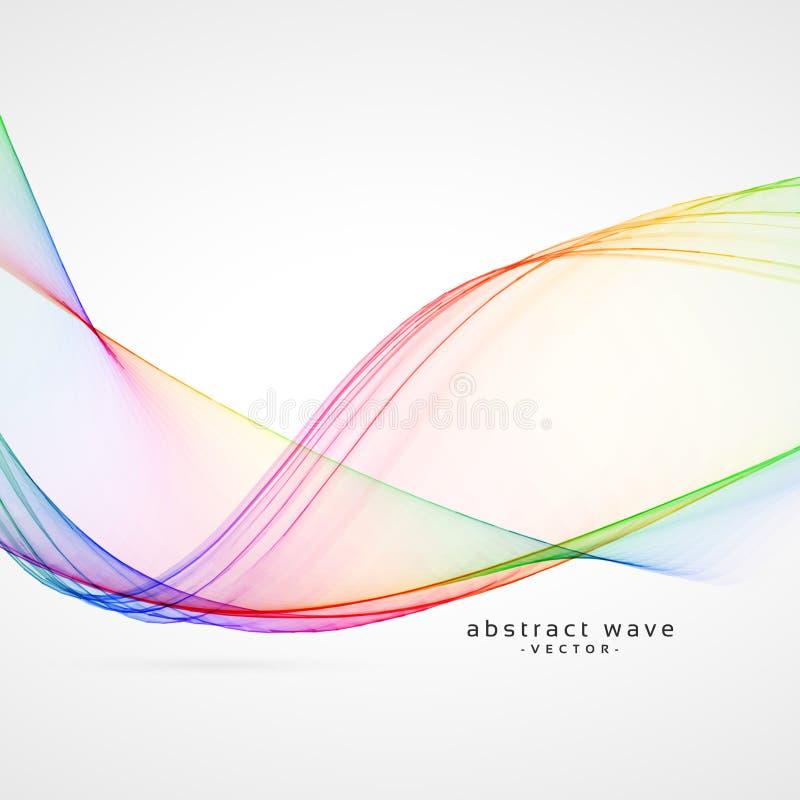 典雅的彩虹颜色摘要波浪背景 向量例证