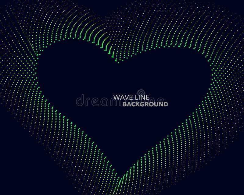 典雅的抽象传染媒介网梯度小点波浪线未来派st 向量例证