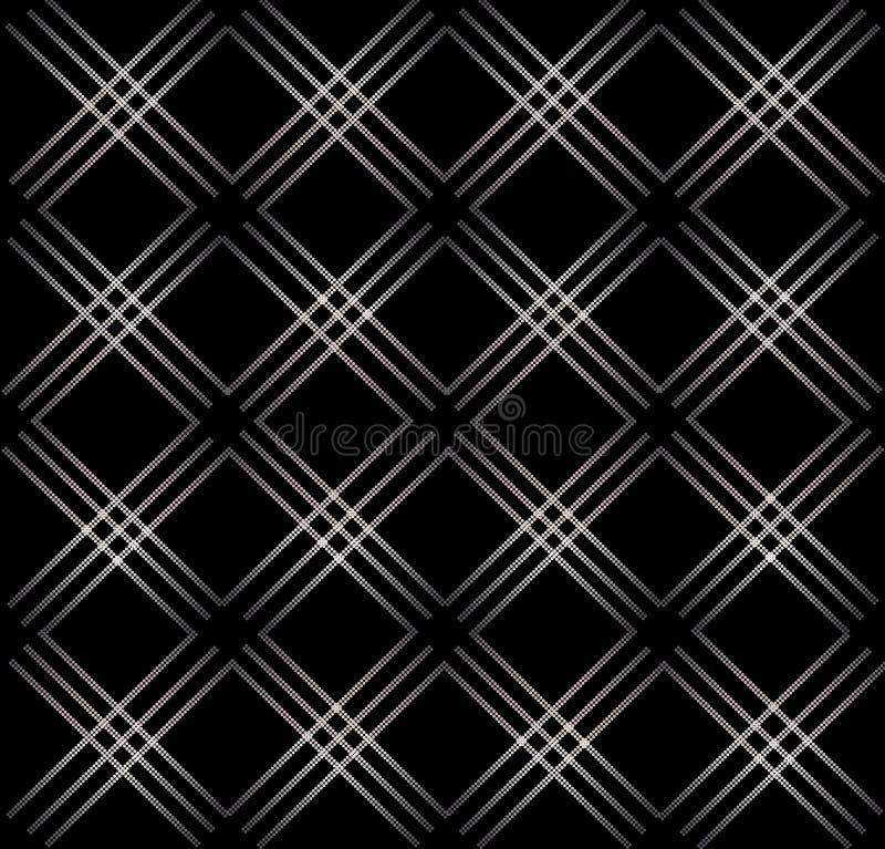 典雅的抽象几何无缝的样式黑色背景 皇族释放例证