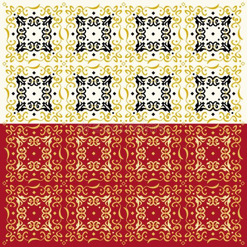 典雅的抽象样式(两彩色组) 皇族释放例证