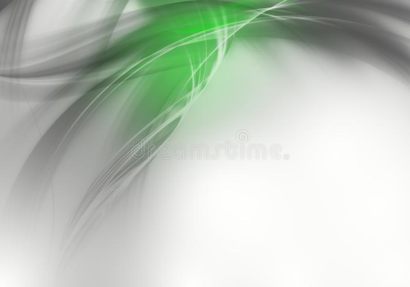 典雅的抽象绿色和灰色背景设计 向量例证