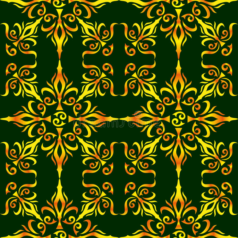 典雅的时髦的抽象花卉墙纸。无缝的样式背景。大马士革豪华墙纸样式。传染媒介 向量例证