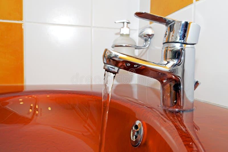 典雅的水槽 免版税库存图片
